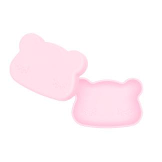 Bear snackie lid open – Powder pink (low)
