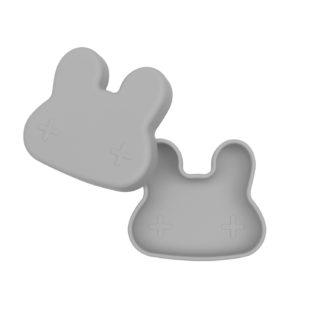 Bunny snackie lid open – Grey (low)