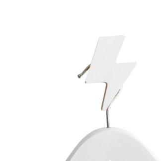 lightning bolt – white
