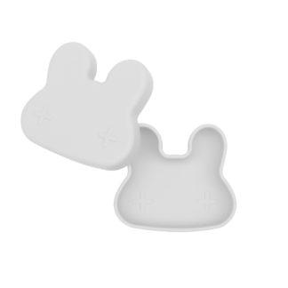 Bunny snackie lid open – Light grey (low)